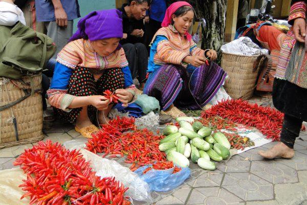 De kleurrijke markt van Bac Ha