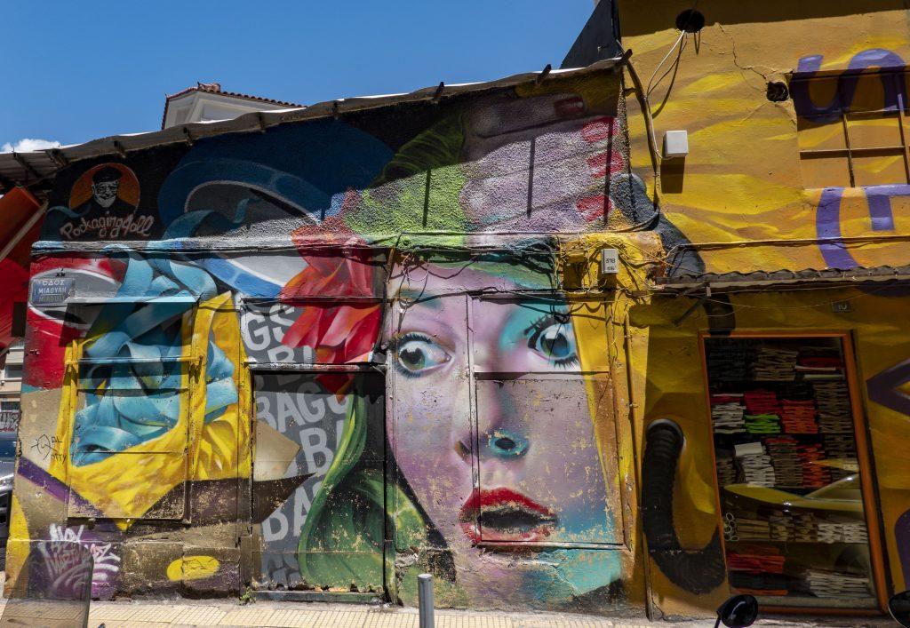 Athene streetart
